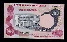 NIGERIA  10 NAIRA ND ( 1973-78 ) DE/33 PICK # 17c XF BANKNOTE.