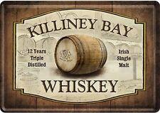 NOSTALGIC Art Killiney Bay WHISKY IRISH SINGLE MALT 12 anni cartolina LAMIERA