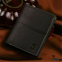 Men's Leather Pocket ID Credit Card Holder Wallet Billfold Clutch Bifold Purse