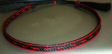 Western Decor Cowboy HAT BAND 5 Strand Red/Black Woven Horsehair With Tassels
