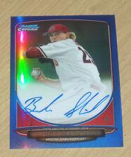 2013 Bowman Chrome (draft) BLUE autograph prospect Braden Shipley 65/99