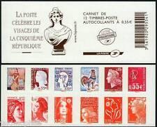 Carnet BC225 / 1618 Visages de la Vème République de 2008 neuf** LUXE