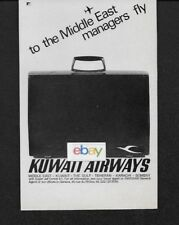 KUWAIT AIRWAYS COMET 4C FROM LONDON TO MIDDLE EAST MANAGERS FLY 1967 AD