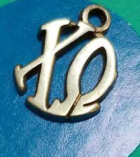 Charm Q101 Greek Letters Sterling Silver Vintage Bracelet