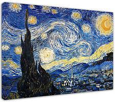Quadro moderno Van Gogh Notte Stellata Arredamento Arredo Casa Arte Stampa Tela
