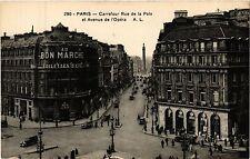 CPA PARIS 2e-Carrefour Rue de la Paix et Avenue de l'Opéra (322011)