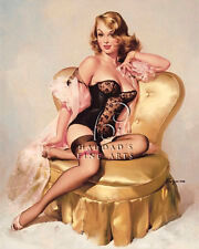 Lola by Gil Elvgren Pin UP Giclee On Stretched Canvas Open Edition Print