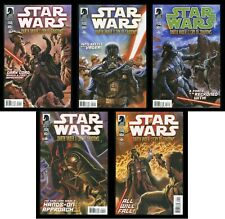 Star Wars Darth Vader and the Cry of Shadows Comic Set 1-2-3-4-5 Lot Palpatine
