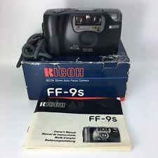 Boxed Ricoh FF-9s 35mm Auto Focus Camera Vintage