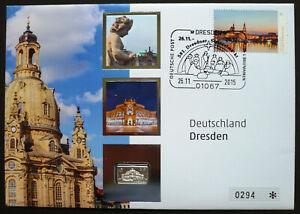 Deutschland Numisbrief 2015 Dresden Semperoper 999 SILBER Barren Salomon