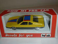 BMW M1 PRO CAR Gialla RARA POLISTIL 1/41 MADE in ITALY SCATOLA e DECALS NUOVA