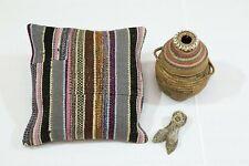 Handmade Cushion Cover Bohemian 18x18 Inch. Authentic Turkish Pillow Case Boho