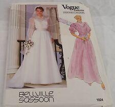 Retro Vogue Beville Sassoon Sewing Pattern 1024 UNCUT Wedding Bridesmaid Dress