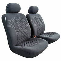 Charcoal Suede Seat Cover For Toyota Hilux Dual Cab 03/2005-06/2015 Front Set
