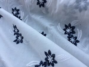 Broderie Anglaise on cotton lawn, 'Portia' (per metre) dress fabric, sewing