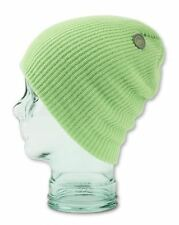 2016 NWT WOMENS VOLCOM POWER BEANIE $18 one lime ice slouch modern fit knit logo