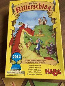 HABA Richard RITTERSCHLAG Legespiel spannendes Ritter Spiel ab 5 Jahre