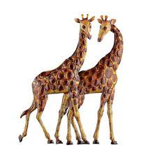 Giraffes Metal Wall Art 3D Safari African Décor for Living Room, Bedroom