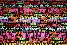 10 ROULEAUX PAPIERS CADEAUX HAPPY BIRTHDAY 2 M x 70 cm +18 Étiquettes cadeaux 7