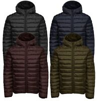Only & Sons Mens Liner Hooded Quilt Puffer Jacket Padded Warm Outdoor Coat