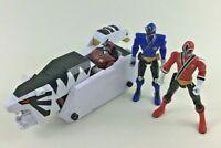 Bandai Power Rangers Super Samurai White Tiger Tank 4pc Lot Zord Red Ranger