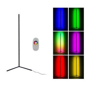 Modern Minimalist LED Corner Floor Lamp RGB Color Changing Wall Lamp W/Remote UK