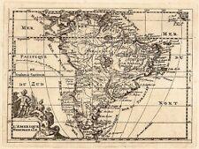 Antique map, L'Amerique Meridionale.