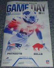 BUFFALO BILLS Gameday Program LORENZO ALEXANDER 10/30/16 vs New England Patriots