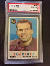 1959 TOPPS #175 SAM BAKER  *SGC GRADED NM/MT 8 ** REDSKINS  *KGF-3889