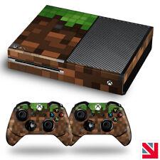 Green Pixels Blocks Xbox One Skin Decal Vinyl Sticker Wrap