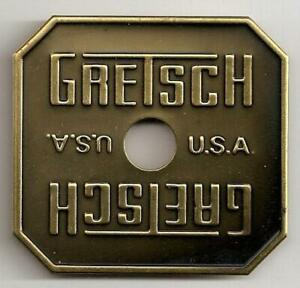 Gretsch USA Bronze Burst Square Drum Badge Nameplate Snare Tom Bass NOS