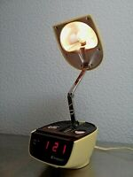Vintage TIMEBAND C-590 Rare Desk Light Alarm Clock Space Age. Rare!!!