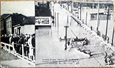 1937 Disaster Postcard: Pontoon Bridge, Flood - Louisville, Kentucky KY
