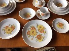 Vintage Noritake Progression ' Fancy Free ' Dinner Set for 6 ~ 36 Piece Floral