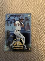 1998 Leaf Fractal Foundations #137 Fred McGriff /3999 And 94 Flair Hot Numbers