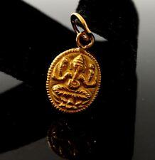 22k 22ct Solid Gold SHRI GANESH GANPATI IDOL Hindu Religious pendant p1039 ns