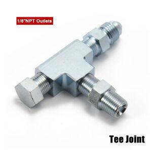 "1/8""NPT Tee Joint Auto Oil Pressure Sensor Turbo Supply Feed Line Gauge Adapter"