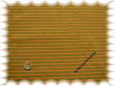Campan Jersey khaki orange Hilco 50 cm Streifenstoff Meterware Streifenjersey