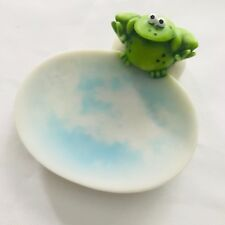 Frog on Water Soap or Trinket Dish