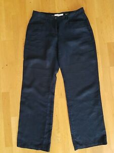 Brax Damen Hose 100% Leinen  Feel Good Gr. 38K dunkelblau top!
