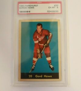 1960 Parkhurst Gordie Howe #20 PSA 6