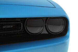 Fits 15-20 Dodge Challenger GTS Smoke Acrylic Headlight Covers 4pc Set GT0165S