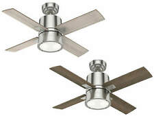 Ceiling Fan with Light and Remote Control Beck Nickel Brushed 107 CM