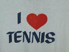 """80's vintage """" I LOVE Tennis"""" adult XL - good condition!  FREE SHIP"""