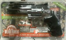 BEAR RIVER AIRGUN BB CHROME REVOLVER .177 CO2 POWERED
