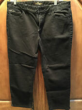 ANN TAYLOR WOMENS BLACK MODERN FIT LINDSEY WAIST JEANS SIZE 12 NEW