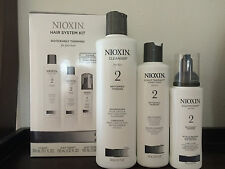 NIOXIN HAIR SYSTEM KIT 2 FOR FINE HAIR CLEANSER SCALP THERAPY TREATMENT SHAMPOO
