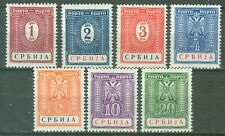 SERBIA 1942 GERMAN OCCUPATION WWII - Postage Due MI. 9/15 MLH SET