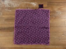 ISAIA Napoli purple floral silk pocket square authentic - NWT