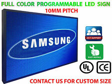 """Programmable led sign full color 12""""X38""""SEMI- outdoor High Res P10 MM display"""
